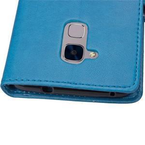 Buttefly PU kožené pouzdro na mobil Honor 7 Lite  - modré - 7