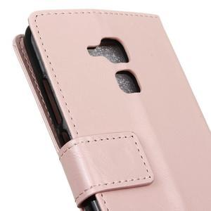 Horse PU kožené puzdro pre mobil Honor 7 Lite - ružové - 7
