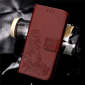 Buttefly PU kožené pouzdro na mobil Honor 7 Lite  - hnědé - 7