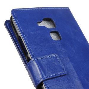 Horse PU kožené puzdro pre mobil Honor 7 Lite - modré - 7