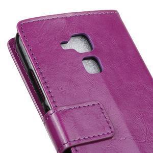 Horse PU kožené pouzdro na mobil Honor 7 Lite - fialové - 7