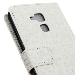 Cartoo pouzdro na mobil Honor 7 Lite - bílé - 7