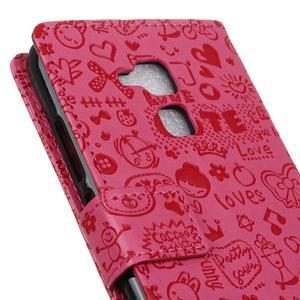 Cartoo pouzdro na mobil Honor 7 Lite - rose - 7