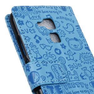 Cartoo pouzdro na mobil Honor 7 Lite - modré - 7