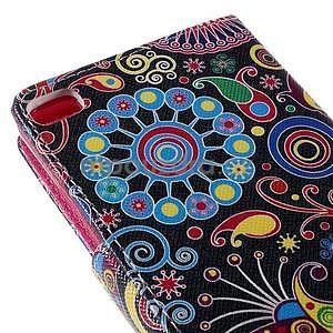 Peňaženkové puzdro Huawei Ascend P8 - farebné kruhy - 7
