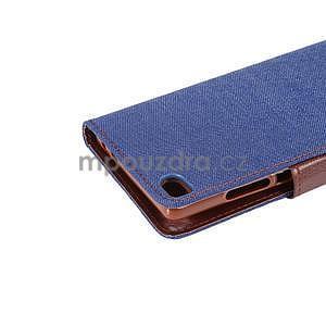 Štýlové peňaženkové puzdro Jeans na Huawei Ascend P8 - tmavomodré - 7