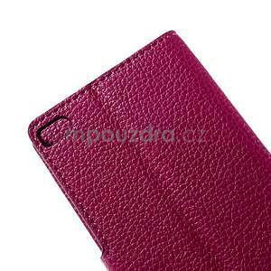 Peňaženkové kožené puzdro Huawei Ascend P8 - rose - 7