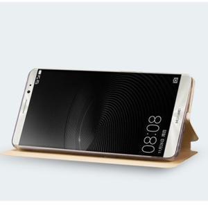 Vintage PU kožené puzdro na mobil Huawei Mate 8 - zlaté - 7