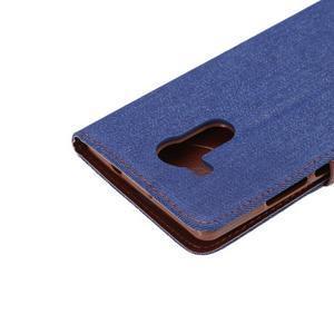 Jeans PU kožené puzdro na mobil Huawei Mate 8 - tmavomodré - 7