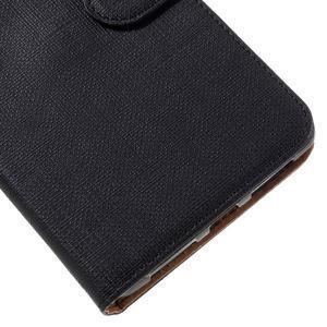 Clothy PU kožené puzdro na Huawei Mate 8 - čierne - 7