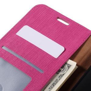 Clothy PU kožené puzdro na Huawei Mate 8 - rose - 7