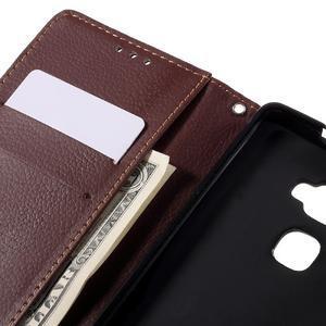 Knižkové PU kožené puzdro na mobil Huawei Mate S - čierne - 7