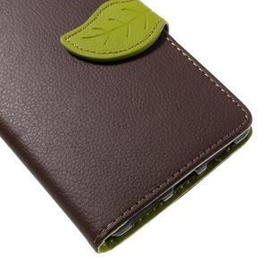 Knižkové PU kožené puzdro na mobil Huawei Mate S - hnedé - 7