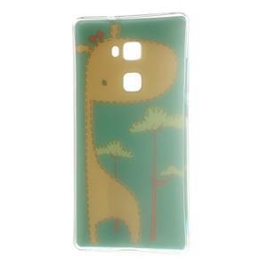 Softy gelový obal na mobil Huawei Mate S - žirafa - 7