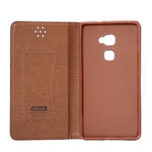 Style knížkové pouzdro na mobil Huawei Mate S - oranžovohnědé - 7