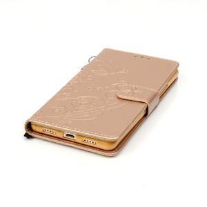 Magicfly knížkové pouzdro na telefon Huawei P9 Lite - zlaté - 7