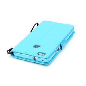 Magicfly knížkové pouzdro na telefon Huawei P9 Lite - světlemodré - 7