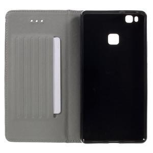 Klopové pouzdro na mobil Huawei P9 Lite - hnědé - 7