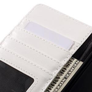 Penženkové pouzdro na mobil Huawei P9 Lite - modrozelené/bílé - 7