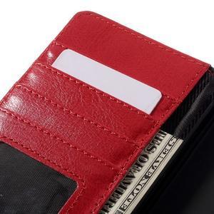 Penženkové pouzdro na mobil Huawei P9 Lite - černé/červené - 7