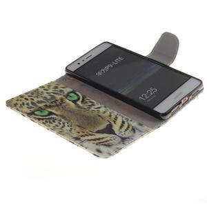 Lethy knížkové pouzdro na telefon Huawei P9 Lite - leopard - 7