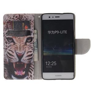 Lethy knižkové puzdro na telefon Huawei P9 Lite - gepard - 7