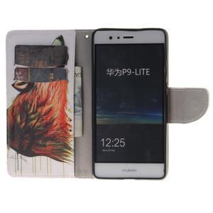 Lethy knížkové pouzdro na telefon Huawei P9 Lite - mýtický vlk - 7