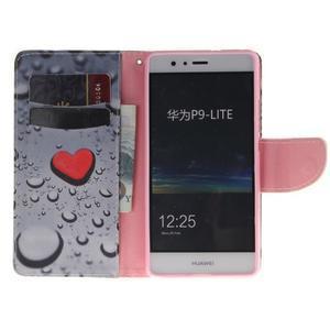 Lethy knížkové pouzdro na telefon Huawei P9 Lite - srdíčka - 7