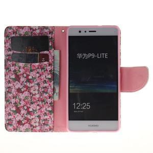 Lethy knižkové puzdro na telefon Huawei P9 Lite - koláž ruží - 7