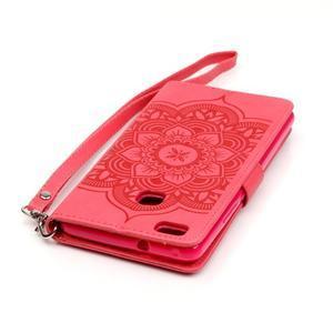 Dream PU kožené pouzdro s kamínky na Huawei P9 Lite - červené - 7