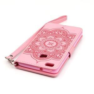 Dream PU kožené pouzdro s kamínky na Huawei P9 Lite - růžové - 7