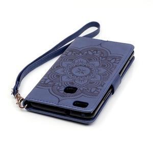 Dream PU kožené pouzdro s kamínky na Huawei P9 Lite - modré - 7