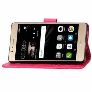 Cloverleaf penženkové puzdro na Huawei P9 Lite - rose - 7