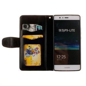 Mandala PU kožené pouzdro na Huawei P9 Lite - černé - 7
