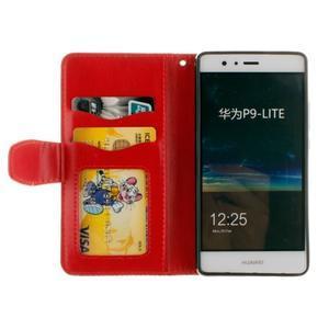 Mandala PU kožené pouzdro na Huawei P9 Lite - červené - 7