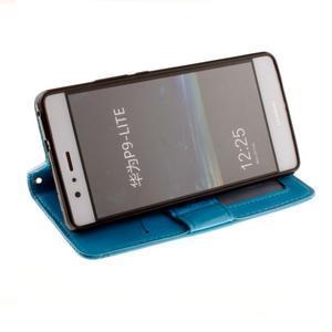 Mandala PU kožené pouzdro na Huawei P9 Lite - modré - 7