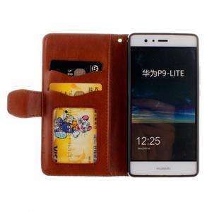 Mandala PU kožené puzdro na Huawei P9 Lite - hnedé - 7