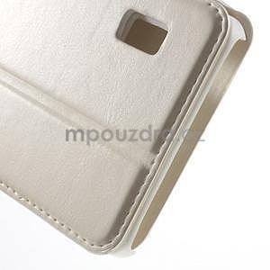 Bílé kožené puzdro na Huawei Y635 - 7