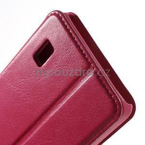 Rose kožené puzdro na Huawei Y635 - 7