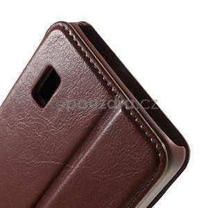 hnedé kožené puzdro na Huawei Y635 - 7