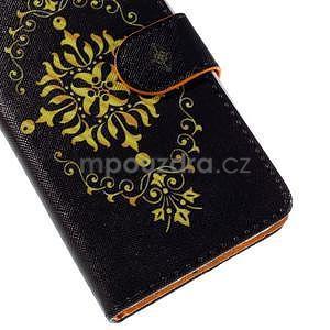 Zapínací peňaženkové puzdro na Huawei Y635 - arabesque - 7