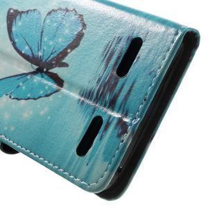 Emotive peněženkové pouzdro na mobil Lenovo A6000 - modrý motýl - 7