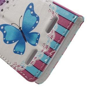 Emotive peňaženkové puzdro pre mobil Lenovo A6000 - motýľe - 7