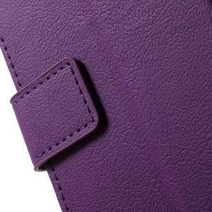 Peněženkové pouzdro na mobil Lenovo Vibe S1 - fialové - 7