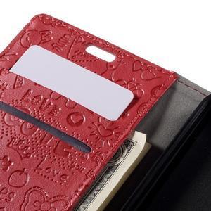 Cartoo peněženkové pouzdro na Lenovo Vibe S1 - červené - 7