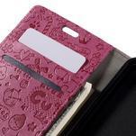 Cartoo peňaženkové puzdro pre Lenovo Vibe S1 - rose - 7/7