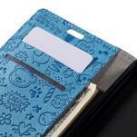 Cartoo peněženkové pouzdro na Lenovo Vibe S1 - modré - 7/7