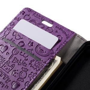 Cartoo peňaženkové puzdro pre Lenovo Vibe S1 - fialové - 7