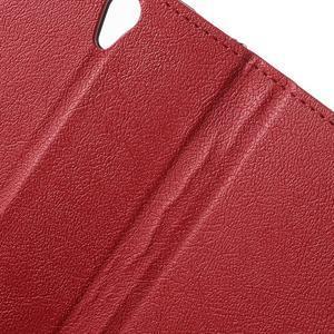 Peňaženkové puzdro pre mobil Lenovo Vibe S1 - červené - 7