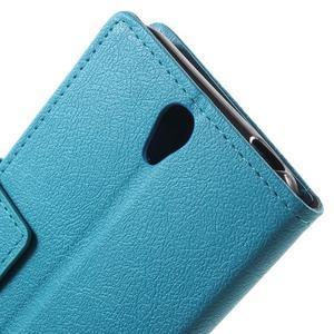 Peněženkové pouzdro na mobil Lenovo Vibe S1 - modré - 7
